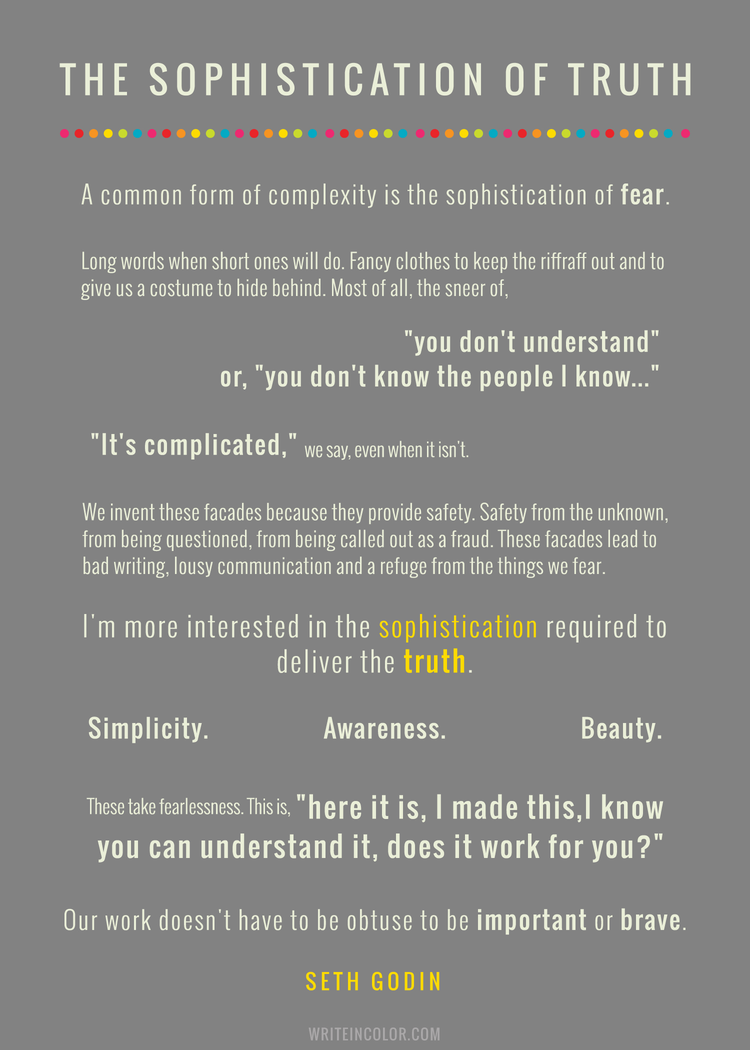 the-sophistication-of-truth-seth-godin-quote