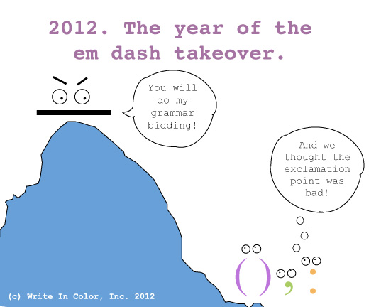 Em dash en dash hyphen cartoon