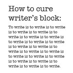 how to cure writer