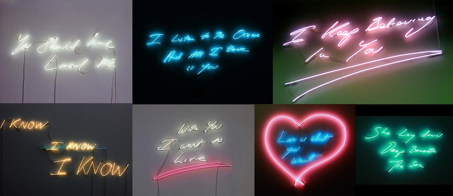 tracey emin�s neon confessions � creative inspiration